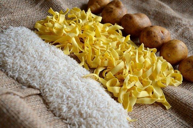 ryż makaron ziemniaki